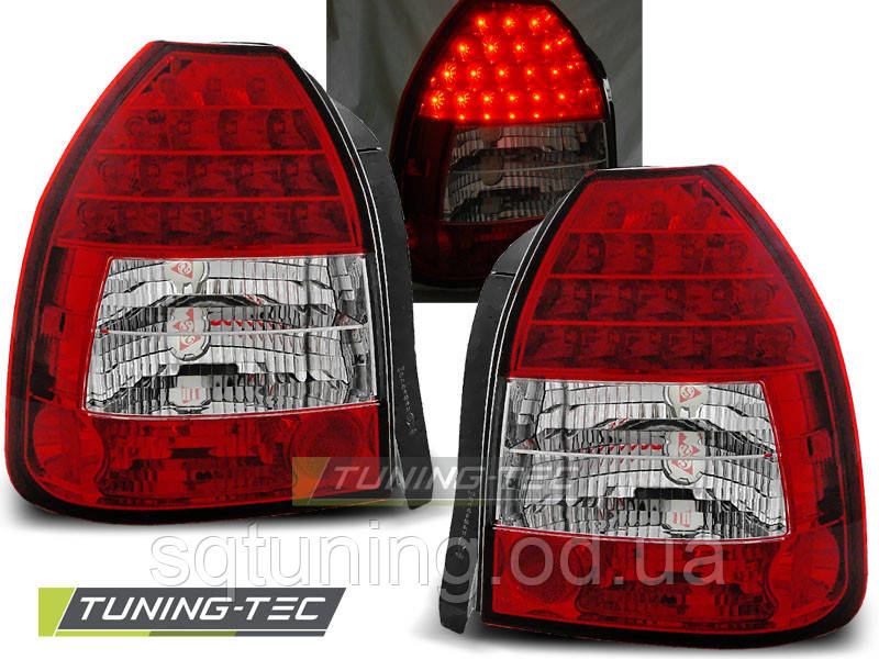 Задние фонари HONDA CIVIC 09.95-02.01 3D RED WHITE LED