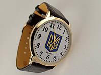 Часы мужские с Гербом Украины золотистый корпус