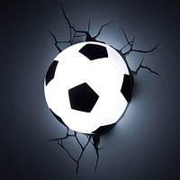 Светильник Детский ночник Football 3D Футбольный мяч