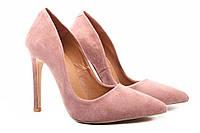 Туфли женские Roberto Netti натуральный замш, цвет капучино (каблук, шпилька, модельные)