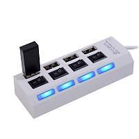Разветвитель USB HUB 4SW, 4-х портовый высокоскоростной USB хаб