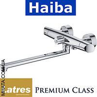 Смеситель для ванны длинный нос HAIBA LATRES LORENZO (Chr-006)