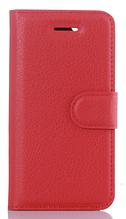 Кожаный чехол-книжка для Meizu M5 красный