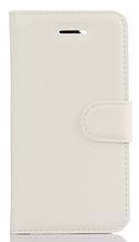 Кожаный чехол-книжка для Meizu M5 белый