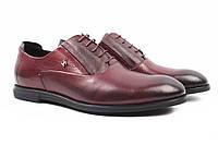 Туфли мужские Cosottinni натуральная кожа, цвет бордо (каблук, комфорт, весна\осень)