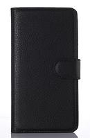 Кожаный чехол-книжка для Lenovo S860 черный