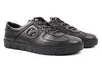 Туфли мужские Louis Vuitton натуральная кожа, цвет черный (платформа, комфорт, весна\осень, Турция)