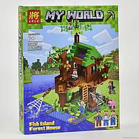 """Конструктор """"minecraft"""" (копия) 33125 от lele «дом у реки» 443 дет kk"""