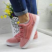 Подростковые кроссовки Vans 4314 розовые