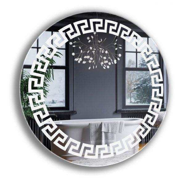 Круглое лед зеркало с подсветкой. Зеркало в ванную комнату