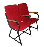 """Кресло для актового зала """"Студент"""" 106х60х90 см. С деревянными подлокотниками"""