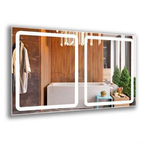 Квадратные лед зеркала с подсветкой. Зеркало в ванную комнату, фото 2