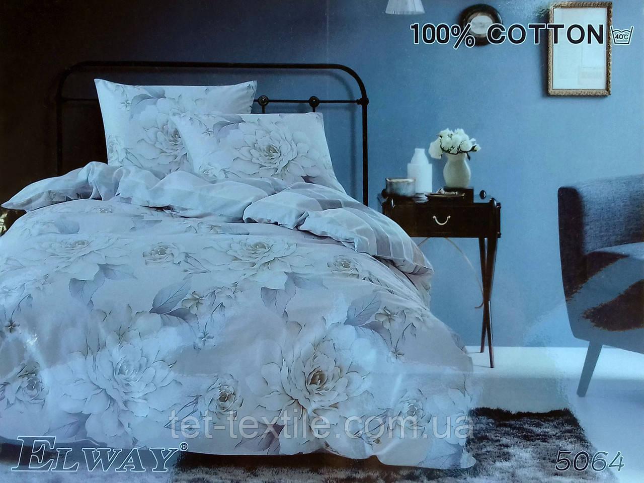 """Комплект постельного белья Elway """"Евро"""" 5064"""