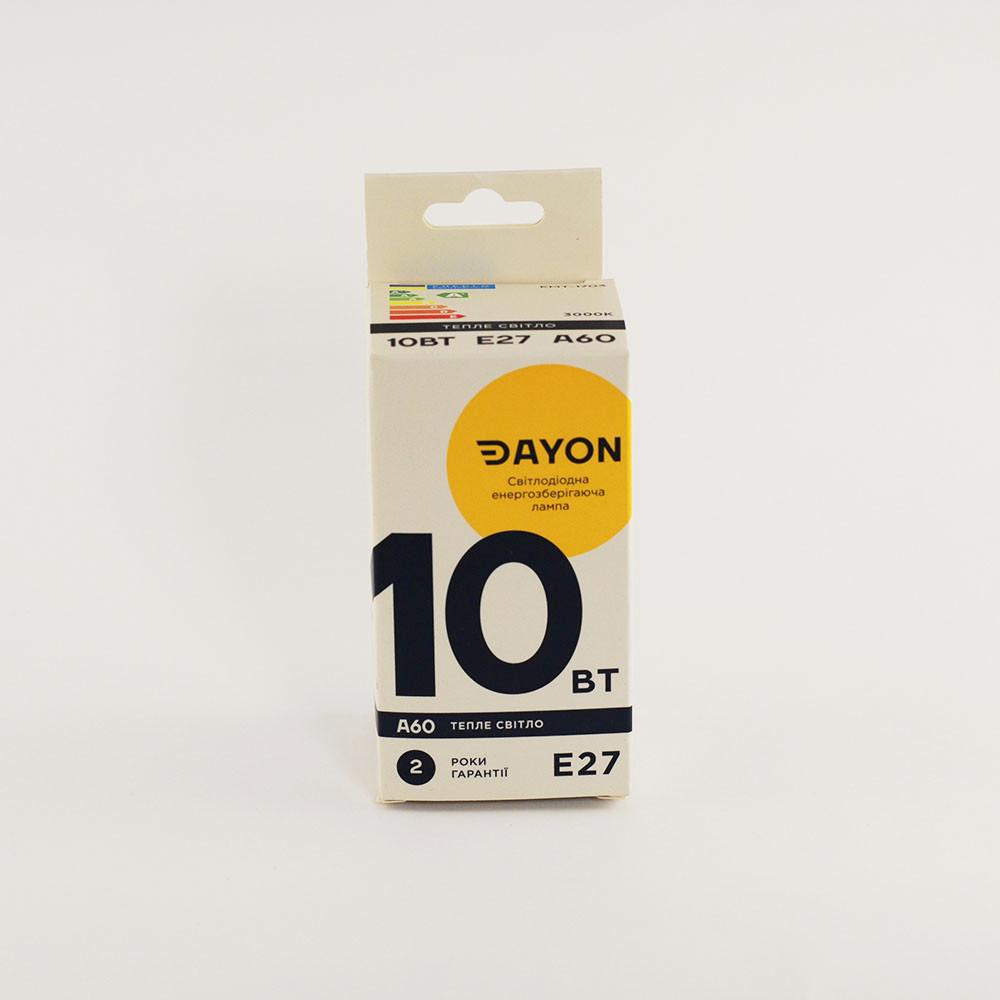 Светодиодная лампа DAYON EMT-1703 A60 10W 3000K E27