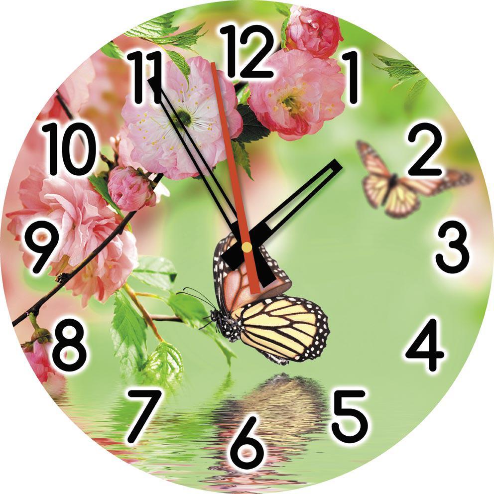 Часы настенные стеклянные Т-Ок 006 SD-3502