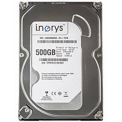 """Жорсткий диск i.norys 2,5"""" 500GB 5400rpm 8MB (INO-IHDD0500S2-N1-5408) комп'ютерний для ПК"""