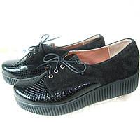 Женские туфли из натуральной кожи и натуральной замши