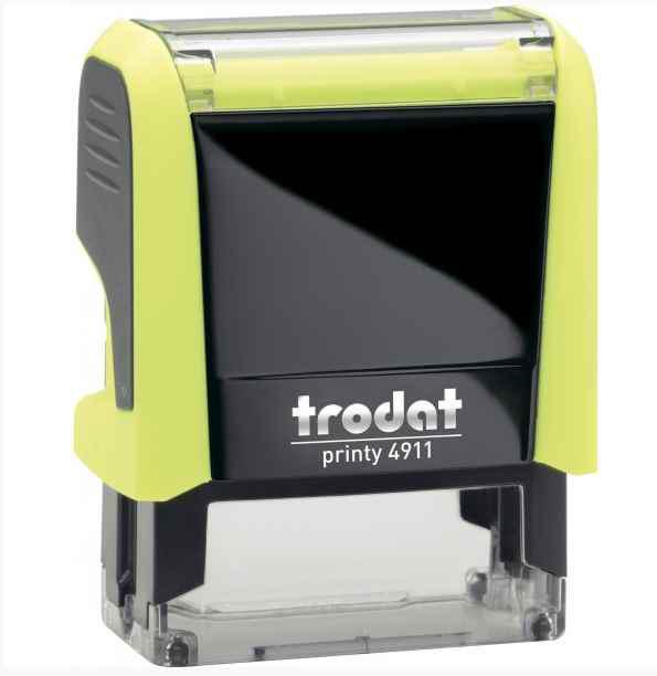 Оснастка для штампу Trodat пластикова, 38*14мм, жовта