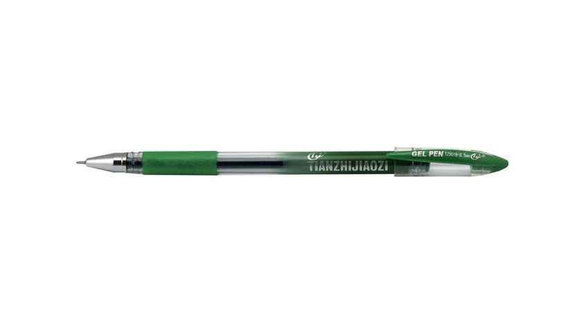 Ручка гелева TZ501B Tianjiao з грипом, зелена