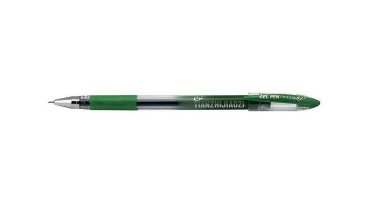 Ручка гелева TZ501B Tianjiao з грипом, зелена, фото 2