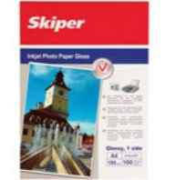 Фотопапiр глянцевий Skiper А6, щільність 150 г/м2, 100 аркушiв