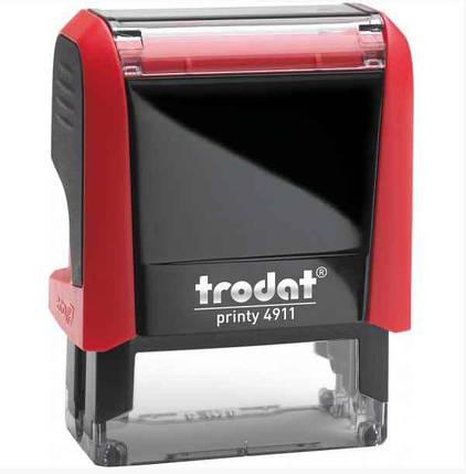 Оснастка для штампу Trodat пластикова, 38*14мм, червона, фото 2