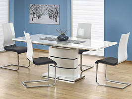 Стол белый раскладной 160(200)х90х75 Halmar NOBEL