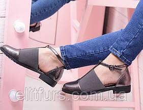 Туфли открытый бок на резинке