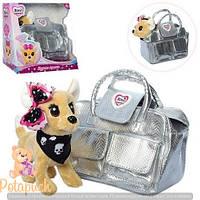 Детская гламурная собачка в сумочке Кикки  M 3483