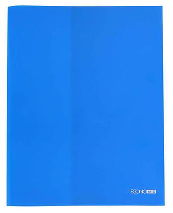Папка пластикова  А4  з відділенням для візиток синя, фото 2