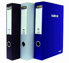 Папка-коробка Scholz, 5223, А4, на липучці, 6 см, синій