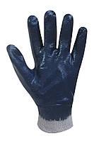 Перчатки синие с эластичным манжетом и нитриловым покрытием Seven WN-1008-1 69211