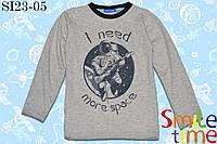 Реглан детский 100% хлопок р.122,128,134,140,146,152 SmleTime для мальчика Ineedmorespace,серый
