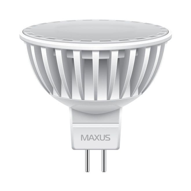 Лампа LED MAXUS 4W теплый свет MR16 GU5.3 220V 1-LED-295 3000K