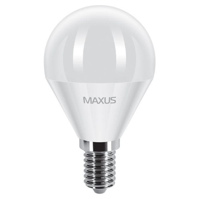 Лампа LED MAXUS  5W теплый свет G45 Е14 220V 1-LED MAXUS -367 3000K