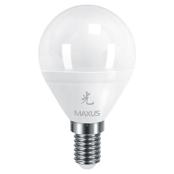 Лампа LED MAXUS  5W яркий свет G45 Е14 220V 1-LED MAXUS -438 4100K