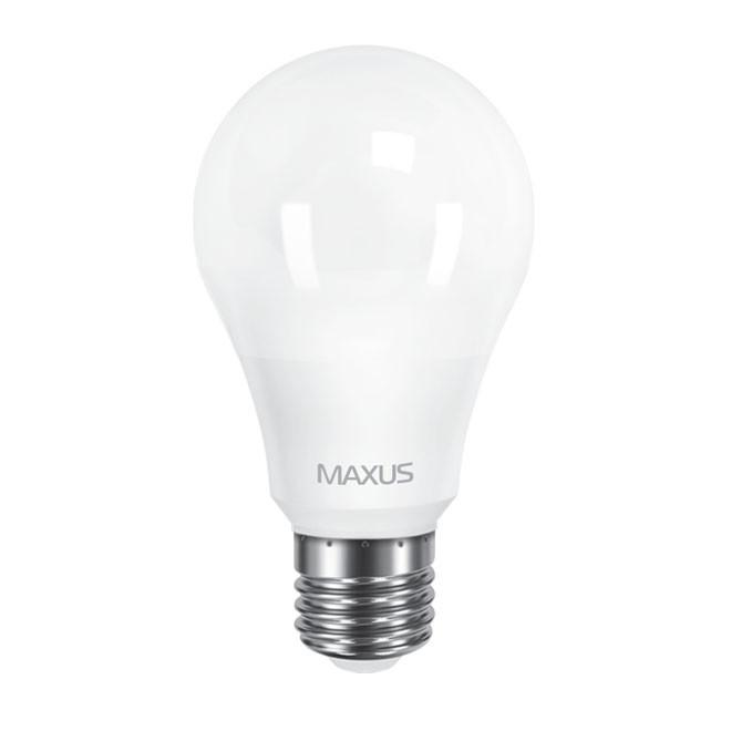 Лампа LED MAXUS A60 10W теплый свет 220V E27 1-LED-561-01 3000K