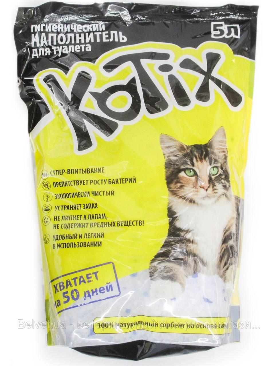 Kotix (Котикс) наполнитель, силикагель  5 л