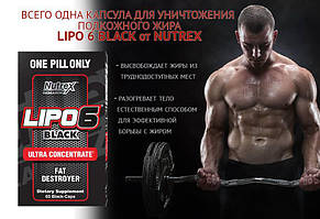 Жиросжигатель Nutrex Lipo 6 Black Ultra Concentrate 60капс, фото 3