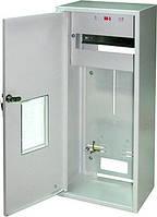 Шкаф распределительный e.mbox.RU-3-Z/О мет. навесной, 3-ф. счетчик,12 мод. замком окном, 560х255х185 мм