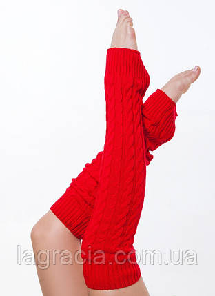 Женские вязаные гетры для танцев Красный, фото 2