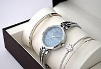 Часы женские - Dior + 2 браслета, серебристый корпус, черный циферблат, фото 1
