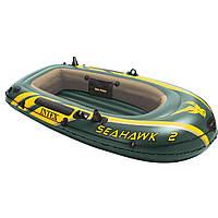 Двухместная надувная лодка Intex 68346 Seahawk 2