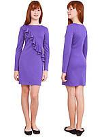 Платье  детское с длинным рукавом   М -1116  рост 128-170 трикотажное разных цветов, фото 1