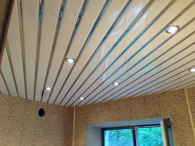 Реечный потолок ( Белый мат RAL 9003 + Зеркало С1), фото 2