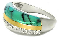 Изысканное серебряное кольцо с бирюзой Диана арт. 119