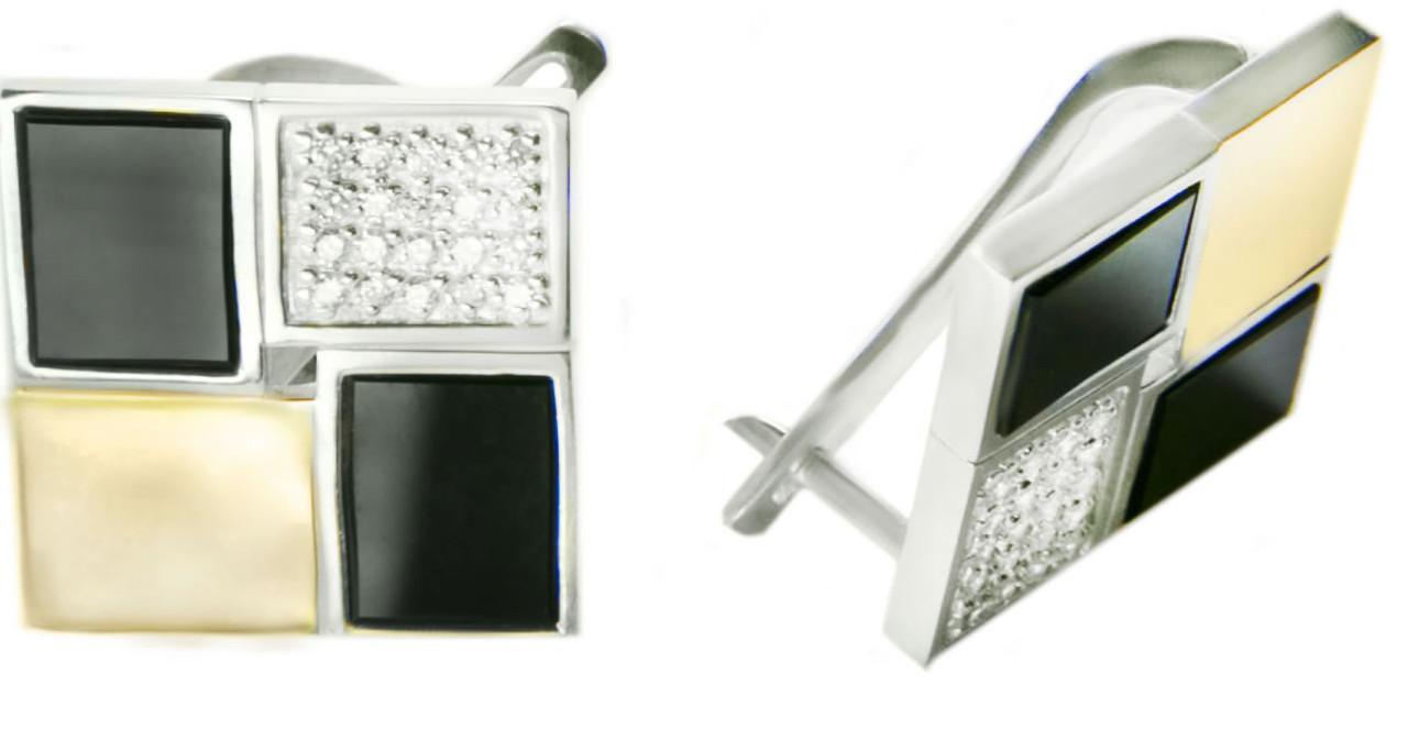 Серьги серебряные женские Грация арт. 123