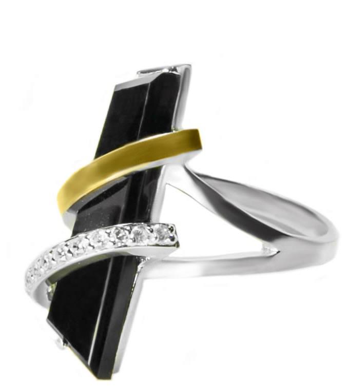 Серебряный перстень Стрела арт. 124