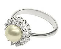 Серебряное кольцо с жемчугом Жемчужина арт. 104
