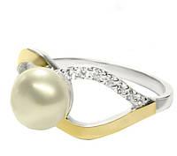Кольцо серебряное с жемчугом Маргарита арт. 117